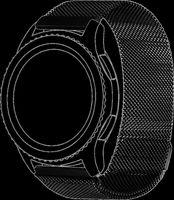 topp - Armband Samsung/Huawei Watch, Mesh, black
