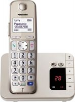 Panasonic KX-TGE220GN Schnurlostelefon Seniorentelefon mit AB, Farbe: Gold