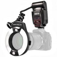 Meike TTL Makro Ringblitz (Leitzahl 14-46) kompatibel mit allen Canon DSLR Kameras mit Blitzschuh (für Objektive von 52mm – 77mm) - MK-14EXT