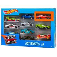 Hot Wheels Zehnteiliges Druckguss-Modellauto-Set 1:64 54886