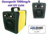 CHM GmbH® Ozongenerator 7g mit UV Lampe, einstellbare Ozonleistung, Ozongerät