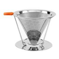 Edelstahl Kaffeefilter / Teefilter, Geeignet Für 1 bis 4 Tassen Kaffee 115 mm wie beschrieben als Bild zeigen