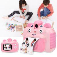 """1080P Sofortbildkamera Digitalkamera Kinder Kamera mit 2.4""""Bildschirm und 3X Druckpapier für Kinder Spielzeug"""