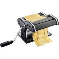 GEFU 89426 Pasta Perfetta Pastamaschine schwarz matt inkl. Aufsatz für Lasagne, Tagliolini, Tagliatelle & Tischklemme