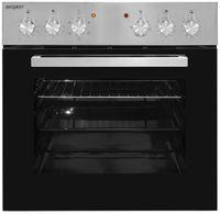 Exquisit EHE 156-2.1-Set Einbau-Herd Glaskeramikkochfeld | Ober-/Unterhitze | Grill | Inox