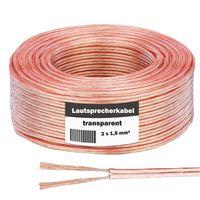 Lautsprecherkabel 25m Kupfer High End Boxenkabel 2x 1,5 mm² HiFi Boxen Kabel