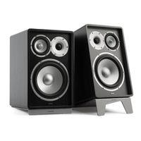 NUMAN Retrospective 1978 MKII - Regallautsprecher , Boxen , Lautsprecher , 20 cm-Tieftöner , 10 cm-Mitteltöner , je 160 W Spitzenleistung , 86 dB , inkl. grauen Lautsprecherständern , schwarz
