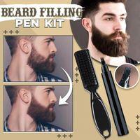 Bartfüllstift Kit Salon Haargravur Styling Augenbrauen Werkzeug(schwarz)