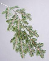gefroren Silber artplants.de K/ünstlicher Zweig Kiefernzweig Marten 80cm