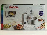 Bosch MUM5XW20 MUM 5 (champagne/weiß) Küchenmaschine, Rührschüssel, Knethaken, Flachrührer, Waage, Mixer-Aufsatz, Schneebesen