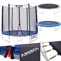 Arebos Trampolin mit Leiter und Sicherheitsnetz 305 cm - direkt vom Hersteller