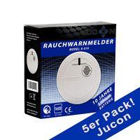 5er Pack Rauchmelder Jucon 10 Jahre Q-Siegel, VDS