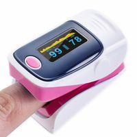 Fingerspitzen-Pulsoximeter, Sauerstoffsättigungsmesser, Blutmonitor, Rosa