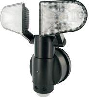 SCHWAIGER -LED220 011- LED Sensorleuchte (2-fach) mit Bewegungsmelder und 2 Lampen, Schwarz