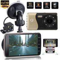 Englische Version HD 1080P 4 '' Auto DVR Doppelobjektiv Video Recorder Dashcam Auto Kamera G-Sensor Dash Cam Nachtsicht