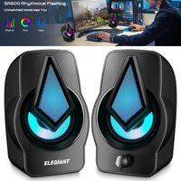 Surround-Sound-System LED-PC-Lautsprecher Gaming-Bass RGB verkabelt für Desktop-Computer