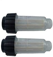 """2 Pack Hochdruckreiniger Wasserfilter inkl. Filtereinsatz (5.731-050.0) für alle Hochdruckreiniger mit 3/4"""" Wasser-Anschluß kompatibel mit 4.730-059.0 für Kärcher K2-K7"""
