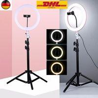 "Profi 10"" LED Ringlicht Dimmbar Ringleuchte Lampe ,für Vlog Make-up Video Live"