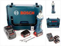 Bosch GGS 18 V-LI Akku Geradschleifer 18V + 2x Akku 5,0Ah + Ladegerät + L-Boxx