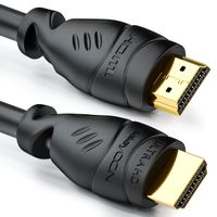 deleyCON 10m HDMI Kabel - Kompatibel zu HDMI 2.0a/b/1.4a UHD Ultra HD 4K 3D 1080p 2160p ARC TV LED Beamer OLED PC - Schwarz