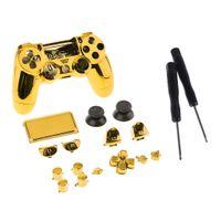 Für Sony PS4 Pro Controller Mod Gold Gehäuse Shell Case Cover Chrome Schutzhülle mit Werkzeug Kit