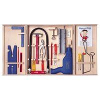 PEBARO Qualitäts-Laubsägeschrank, mit Bohrmaschine, 28-teilig