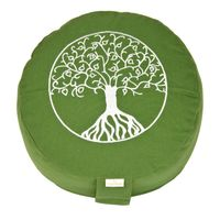 Meditationskissen Glückssitz Lebensbaum, olive