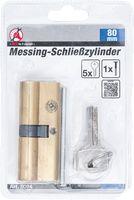 KRAFTMANN 8094 Messing-Schließzylinder, 80 mm