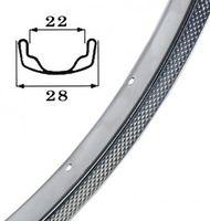 Felge Stahl 28' verchromt 622-22 VL 8,5mm 36 Loch, ohne Ösen