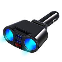 12V Auto Zigarettenanzünder 2 Wege Dual Adapter Ladegerät Plug Socket Splitter