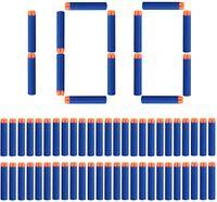 100 Stück 7.2cm Refill Darts Nachfüll Bullets Schaumstoff Pfeile Zubehör für Nerf N-Streik Elite Series (Runder Kopf)