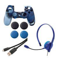 Hama 00115463, PlayStation 4, Schwarz, Blau, Dualshock 4, 7 Stück(e), Mikro-USB