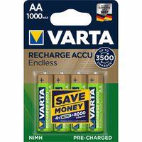 Varta Recharge Accu Endless AA 1000mAh 4er