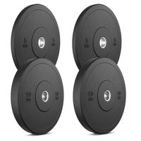 Marbo Sport Bumper Plates Hantelscheiben aus Vollgummi Set 30 kg / 2 x 10 kg + 2 x 5 kg
