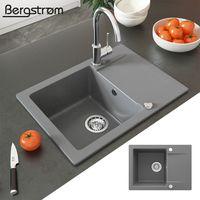Bergström Spüle Küchenspüle Einbauspüle Spülbecken Granit Grau 577x418mm