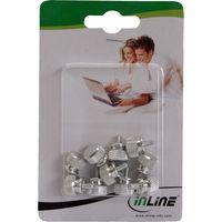 InLine® Rändelschrauben (silber) für Gehäuse, 12mm, 10er Pack