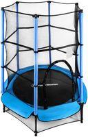Mini-Trampoline 140 cm mit Sicherheitsnetz für Kinder 3-6 Jahre, Indoor und Outdoor Trampoline, Freizeit-Trampolin mit Netz