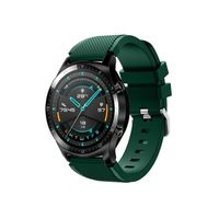 22mm Silikon Armband Armband Armband Ersatz mit Schnallenstreifen Oberfl?che Kompatibel mit HUAWEI WATCH GT 2 46mm / HONOR MagicWatch 2 46mm