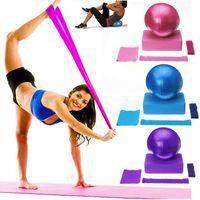 5-tlg. Fitness Yoga-Ausrüstungs-Set Yoga-Ball + Yoga-Blöcke+ Stretchband + Widerstandsschlaufenband+ Yoga-Gurt