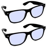2er Set Blaulichtfilter Bildschirmbrille Ohne Stärke Schwarz Blaufilterbrille Gamingbrille Blaufilter PC Bildschirm Monitor Brille Damen Herren Bürobrille Arbeitsplatzbrille
