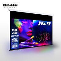 "ESMART Professional MIROLO | Rolloleinwand | 332 x 187 cm (150"") 16:9 | Vollmaskierung | Heimkino Beamer Projektionsleinwand Rollo Leinwand LCD LED"