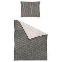 Irisette Biber Bettwäsche 2 teilig Bettbezug 135 x 200 cm Kopfkissenbezug 80 x 80 cm Feel 8122-11 grau
