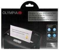 OLYMPIA Ölpapier für Aktenvernichter zum Reinigen und Schmieren des Schneidwerkes
