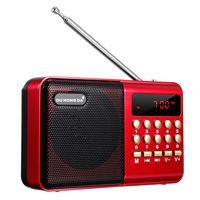 Mini Tragbares Radio LCD Digital FM USB TF MP3-Player Lautsprecher wiederaufladb