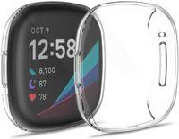 Fitbit Versa 3,Fitbit Sense Bumper: iMoshion Softcase + Screenprotector