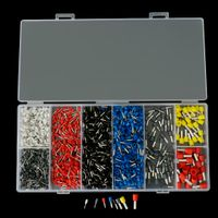 1200er Pack Sortierte Kabelschuhe Aderendhülse Isolierhülse Set in Verschiedene Größe, Mehrfarbig