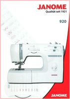 Janome 920 Freiarm-Nähmaschine mit Bonuskit