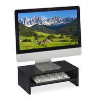 relaxdays Monitorständer schwarz