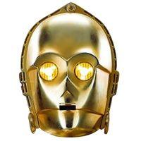 Star Wars Maske C-3PO TA1386 (Einheitsgröße) (Gold)