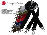 Hosenträger mit Karabinerhaken und Metallkreuz, Größen:120 cm, Farben:schwarz